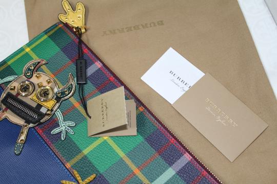Burberry Blue multi Clutch Image 9