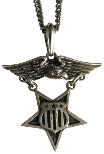 Preload https://img-static.tradesy.com/item/24553164/king-baby-silver-sterling-eagle-medal-w-star-and-flag-shield-pendant-necklace-0-1-540-540.jpg
