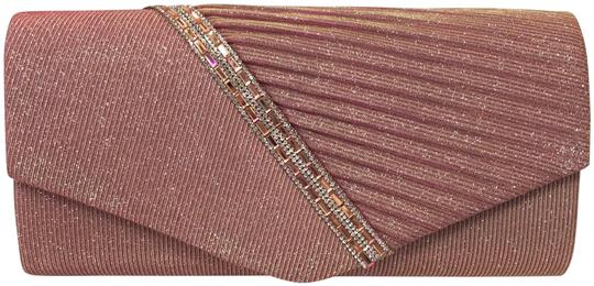 Preload https://img-static.tradesy.com/item/24553335/pink-and-silver-glitter-fabric-rhinestone-clutch-0-1-540-540.jpg