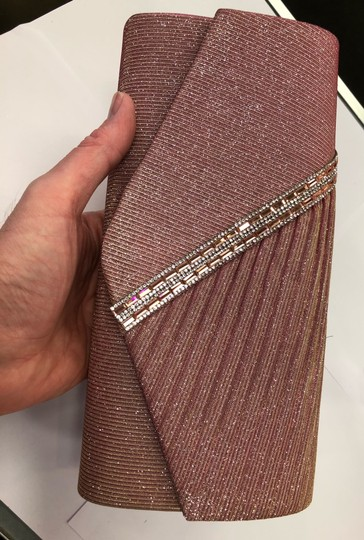 Crystal Collection Handbag Evening Evening Pink and silver Clutch Image 11