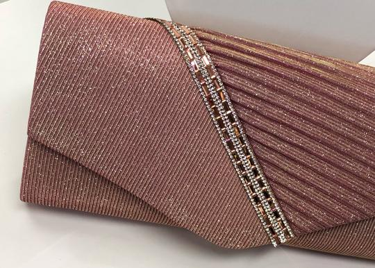 Crystal Collection Handbag Evening Evening Pink and silver Clutch Image 2