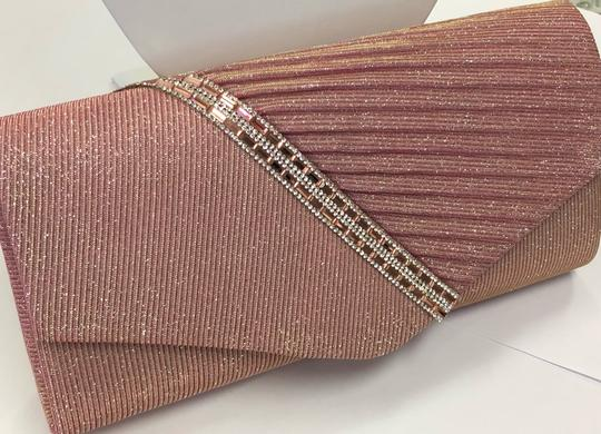 Crystal Collection Handbag Evening Evening Pink and silver Clutch Image 3