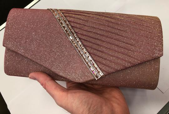 Crystal Collection Handbag Evening Evening Pink and silver Clutch Image 7