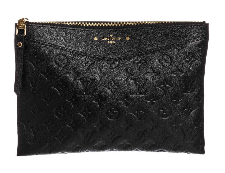 de25f147357b Louis Vuitton Daily Pouch Black Empreinte Leather Clutch - Tradesy