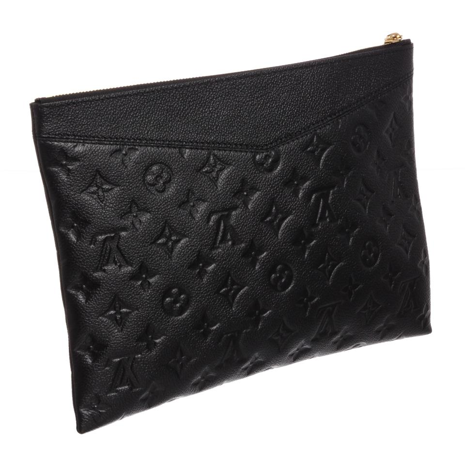 21cb59f866563 Louis Vuitton Daily Pouch Black Empreinte Leather Clutch - Tradesy