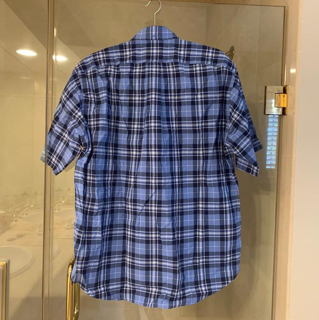 Faonnable Button Down Shirt blue and black Image 1