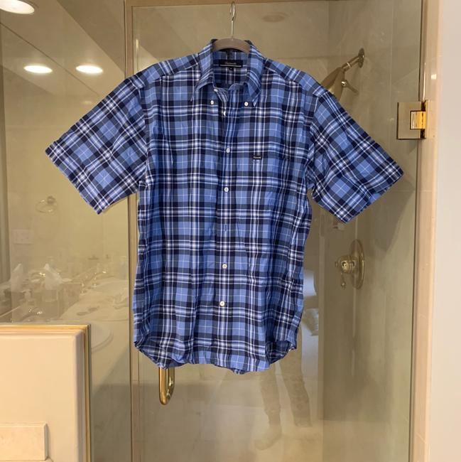 Faonnable Button Down Shirt blue and black Image 2