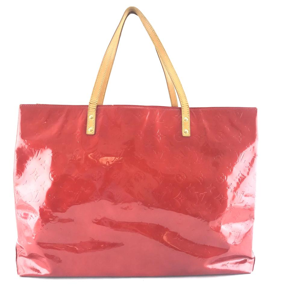 98429151b054 Louis Vuitton Reade  24795 Rare Gm Xl Extra Large Shoulder Monogram Red  Vernis Patent Leather Tote