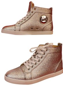 Christian Louboutin Metallic Lace Sequin Pink Gold Silver Athletic