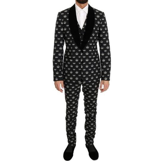 Preload https://img-static.tradesy.com/item/24553583/dolce-and-gabbana-black-d1052-1-crown-wool-stretch-slim-fit-suit-it-46-s-groomsman-gift-0-0-540-540.jpg