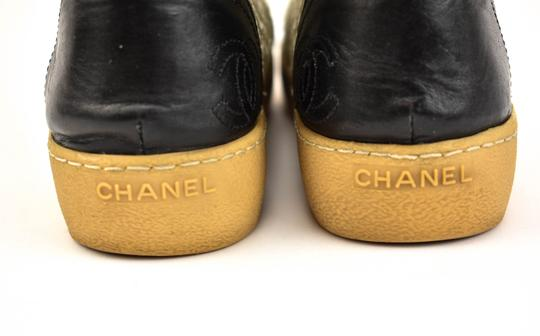 Chanel Black Sneaker Logo Floral Off White Athletic Image 3