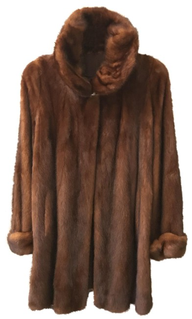 Item - Mink Rich Brown W Swing W/ Matching French Hat Coat Size 10 (M)