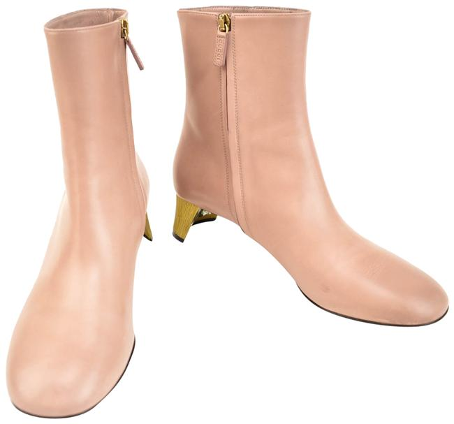 """Item - """"Betis Glamour"""" Pink Mauve Leather Logo Crystals Short Boots/Booties Size EU 39 (Approx. US 9) Regular (M, B)"""