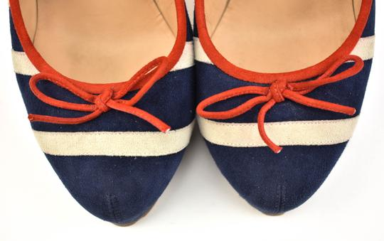 Chanel Cc Logo Red Blue/Off White Pumps