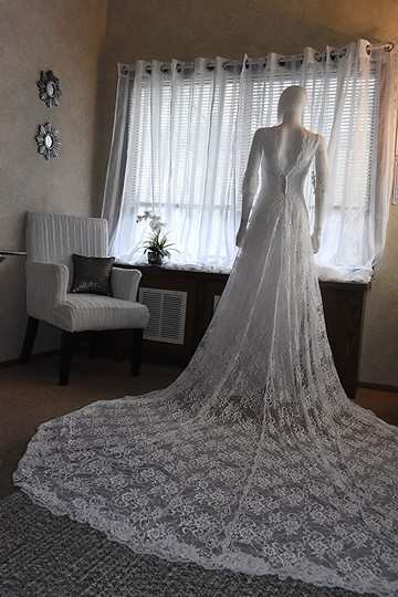 Preload https://img-static.tradesy.com/item/24553674/lisa-nieves-pearl-white-french-lace-gown-formal-wedding-dress-size-10-m-0-0-540-540.jpg