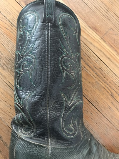 Dan Post Boots Western Cowboy Cowgirl Leather Black and Green Boots