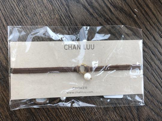 Chan Luu New Auth Chan Luu White Pearl Gold Halo Saddle Leather Double Strand