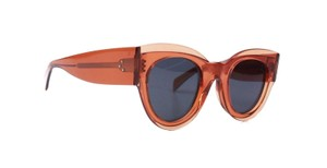 Céline Cat Eye Sunglasses Orange Plastic Frames Grey Lenses