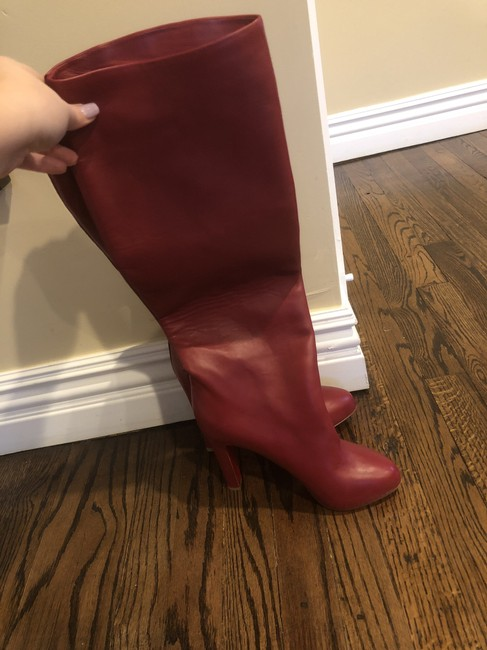 Item - Red Leather Boots/Booties Size EU 39 (Approx. US 9) Regular (M, B)