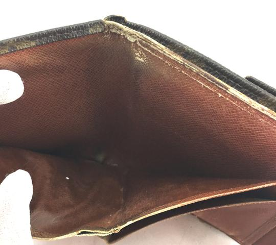 Louis Vuitton Square Monogram Double sided Flap Wallet trifold coin change holder