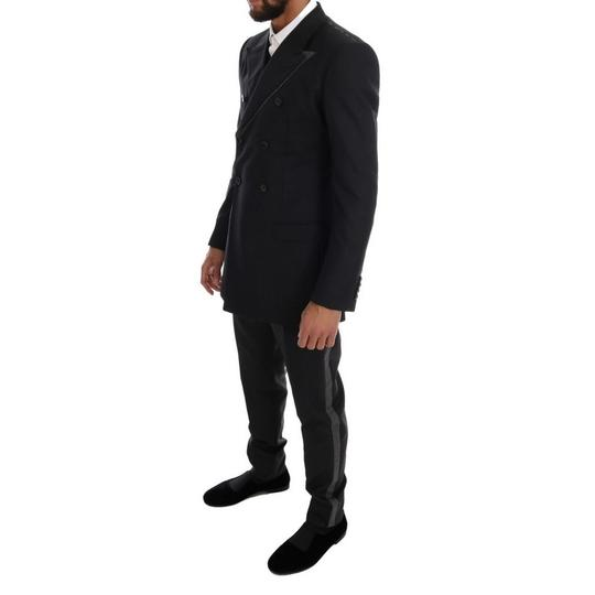 Dolce&Gabbana Gray D1110-5 Wool Double Breasted 3 Piece Suit (It 48 / M) Tuxedo Image 1