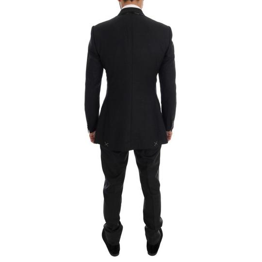 Dolce&Gabbana Gray D1110-5 Wool Double Breasted 3 Piece Suit (It 48 / M) Tuxedo Image 2