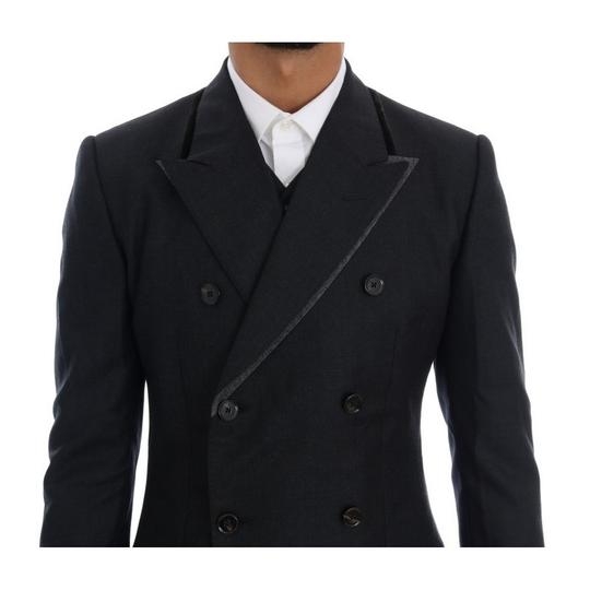 Dolce&Gabbana Gray D1110-5 Wool Double Breasted 3 Piece Suit (It 48 / M) Tuxedo Image 3