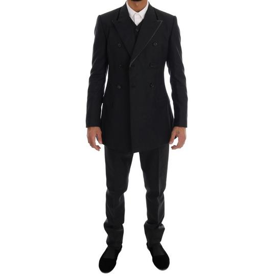 Dolce&Gabbana Gray D1110-5 Wool Double Breasted 3 Piece Suit (It 48 / M) Tuxedo Image 5