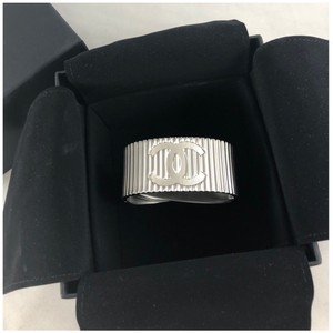 Chanel B16S Bracelet Cuff Brushed Metal Italy