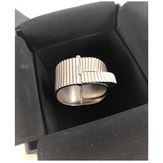 Chanel B16S Bracelet Cuff Brushed Metal Italy Image 2
