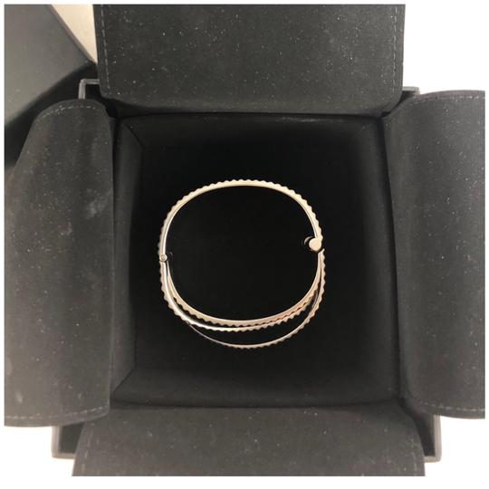 Chanel B16S Bracelet Cuff Brushed Metal Italy Image 3