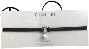 Chan Luu New Auth Chan Luu Grey Pearl Silver Halo Brown Leather Double Strand C