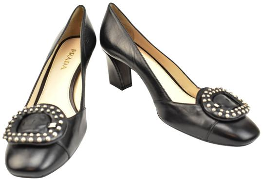 Preload https://img-static.tradesy.com/item/24553782/prada-black-leather-and-logo-heels-pumps-size-eu-39-approx-us-9-regular-m-b-0-1-540-540.jpg