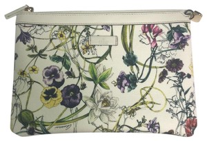 Gucci Wristlet in white floral