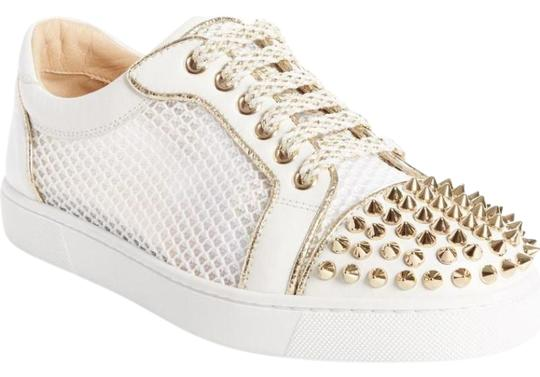 Preload https://img-static.tradesy.com/item/24553824/christian-louboutin-gold-ac-vieira-light-spike-latte-leather-mesh-low-top-sneakers-sneakers-size-eu-0-1-540-540.jpg