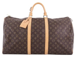 Louis Vuitton Canvas Satchel in brown
