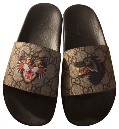 Preload https://img-static.tradesy.com/item/24553856/gucci-black-and-great-pursuit-slider-tiger-wolf-sandals-size-us-5-regular-m-b-0-1-540-540.jpg