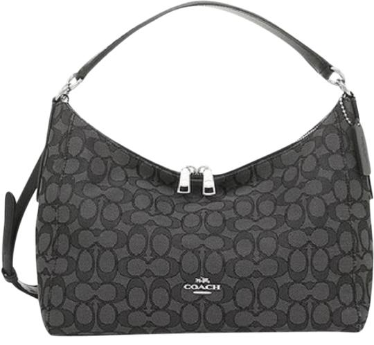 Preload https://img-static.tradesy.com/item/24553858/coach-outline-signature-ew-celeste-black-jaquard-hobo-bag-0-1-540-540.jpg
