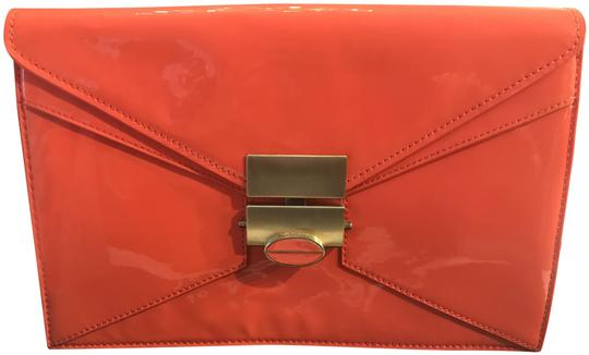 Treesje Peace Coral Patent Leather Clutch Image 0