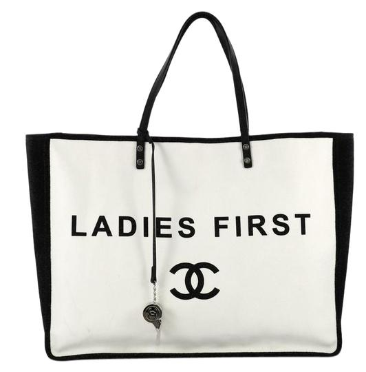Preload https://img-static.tradesy.com/item/24553896/chanel-let-s-demonstrate-large-white-canvas-tote-0-1-540-540.jpg