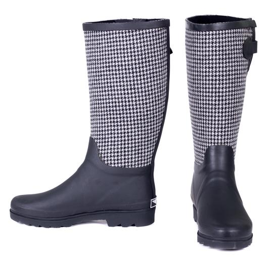 Forever Young Wellies Rainboots Rain Sluggers Checkers Houndstooth Boots