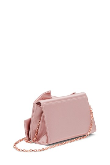 Ted Baker Fefee Evening Optional Strap Convertible Bow Pink Clutch