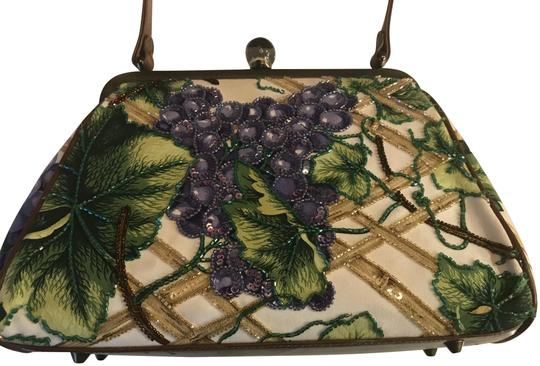 Preload https://img-static.tradesy.com/item/24553938/isabella-fiore-embroidered-multi-colored-green-leaves-purple-grapes-light-colored-bamboo-see-picture-0-1-540-540.jpg