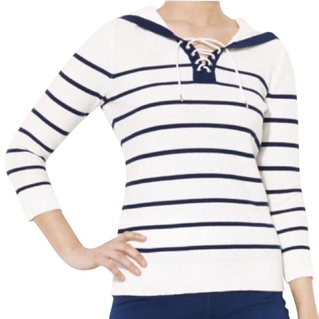 Preload https://img-static.tradesy.com/item/24553939/ralph-lauren-nautical-striped-white-and-navy-sweater-0-1-650-650.jpg