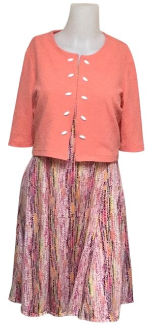 Preload https://img-static.tradesy.com/item/24553954/coral-2-piece-workoffice-dress-size-petite-8-m-0-1-650-650.jpg