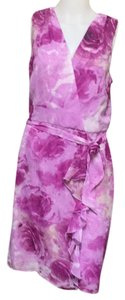 Madison Leigh short dress Magenta/ivory on Tradesy