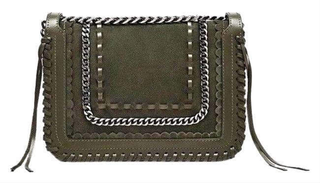 Item - Crossbody Collection with Chain Khaki Green Leather Messenger Bag