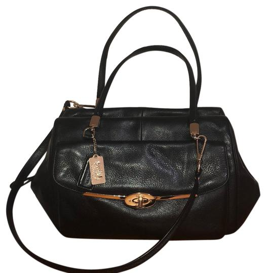 Preload https://img-static.tradesy.com/item/24554035/coach-madison-madeline-ew-black-leather-satchel-weekendtravel-bag-0-1-540-540.jpg