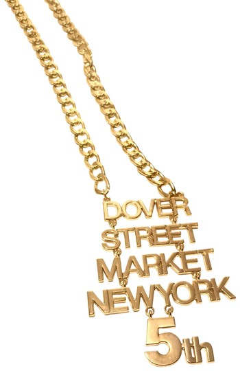 Dover Street Market Limited Edition Celebration 5Th Anniversary Date DSM NewYork Gold Chain Image 2