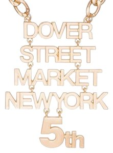 Dover Street Market Limited Edition Celebration 5Th Anniversary Date DSM NewYork Gold Chain